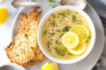 سوپ مرغ یونانی ( آگولمونو )