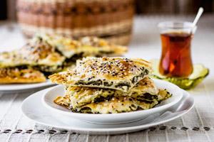 بورک اسفناج و پنیر ( ترکیه )