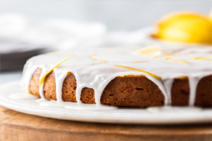 کیک بادام لیمویی