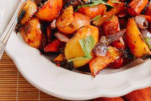 خوراک سبزیجات کبابی