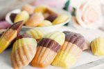 شیرینی مادلین رنگین کمانی