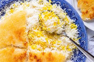 آبکش کردن و پخت برنج