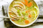سوپ جو و مرغ رژیمی